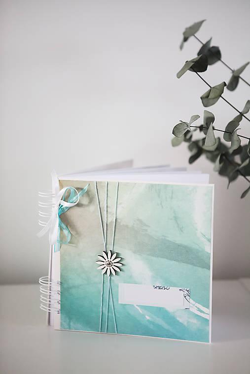 Tyrkysový svadobný album / kniha hostí