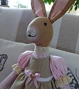 Bábiky - Ružovobéžová zajačia slečna - 9229798_
