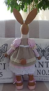Bábiky - Ružovobéžová zajačia slečna - 9229802_