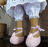 Bábiky - Ružovobéžová zajačia slečna - 9229805_
