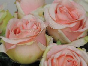 Iný materiál - Ruže marhuľové, žlté, zelené, bordové - 9229245_