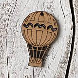 Polotovary - Drevený balón pre cestovateľov - 9231240_