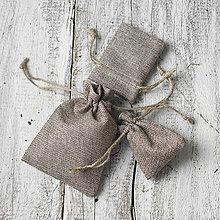 Obalový materiál - Jutové vrecúška na darčeky - 9231396_