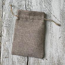 Obalový materiál - Jutové vrecúška na darčeky (14 x 10 cm) - 9231400_