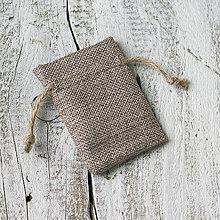 Obalový materiál - Jutové vrecúška na darčeky (9 x 7 cm) - 9231402_