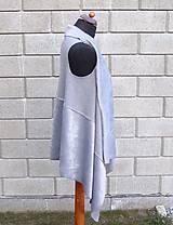 Iné oblečenie - Sivá vesta - 9234100_