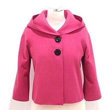Kabáty - Vlnený bolerkový kabátik - 9233780_