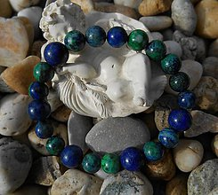 Náramky - blue and green stones - 9233340_