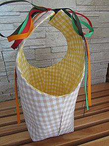 Košíky - Krémový košíček pre veľkonošných kupačov - 9232008_