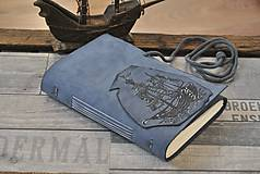 Papiernictvo - kožený zápisník - lodný denník LAGOON - 9230956_