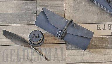 Papiernictvo - kožený rolovací peračník LAGOON - 9230857_