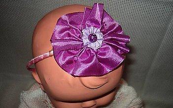 Ozdoby do vlasov - čelenka - fialový kvietok - 9232975_