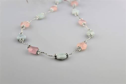 Morganit akvamarín náhrdelník dlhý luxusný   Sima-polodrahokamy ... d92a56e5966