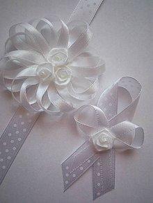 Pierka - Sada bielych elegantných svadobných pierok - 9232425_