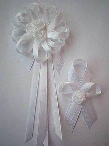 7d905742c Pierka - Biele elegantné svadobné pierko pre svadobného otca/starejšieho -  9232457_