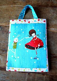 Detské tašky - Ceruzkovník dievčatko a zajko - 9229724_