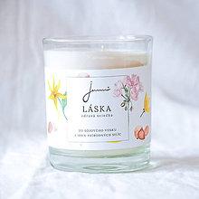 Svietidlá a sviečky - Láska - sójová sviečka Jemnô - 9230936_