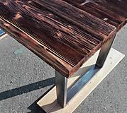 Nábytok - Jedálenský stôl s rustikálnou doskou - 9233706_