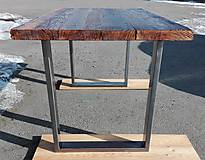 Nábytok - Jedálenský stôl s rustikálnou doskou - 9233711_