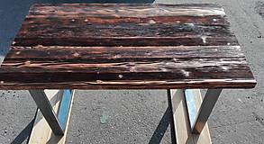 Nábytok - Jedálenský stôl s rustikálnou doskou - 9233713_
