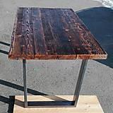 Nábytok - Jedálenský stôl s rustikálnou doskou - 9233714_