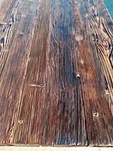 Nábytok - Jedálenský stôl s rustikálnou doskou - 9233717_