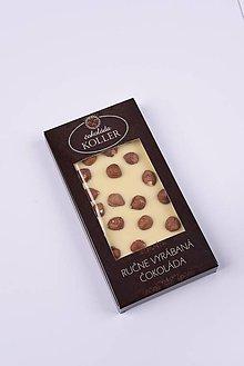 Potraviny - Biela čokoláda s lieskovými orechmi - 9232359_