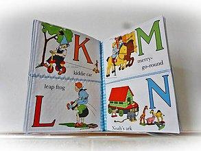 Hračky - Moja prvá angličtina - šitá kniha s abecedou - 9233884_