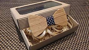 Doplnky - Pánsky drevený motýlik - 9233960_