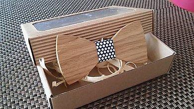 Doplnky - Pánsky drevený motýlik - 9234025_