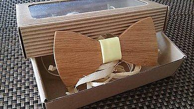Doplnky - Pánsky drevený motýlik - 9234042_
