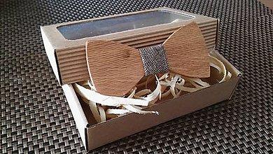 Doplnky - Pánsky drevený motýlik - 9234079_