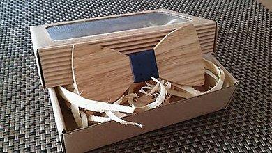 Doplnky - Pánsky drevený motýlik - 9234086_