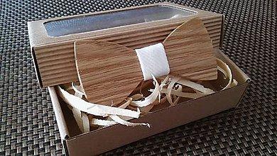 Doplnky - Pánsky drevený motýlik - 9234092_