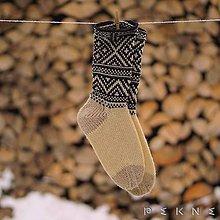 Obuv - Ponožky z ovčej vlny STRÁŽOV  (Natural - čierna  (36-37, 38-39, 40-41)) - 9229857_