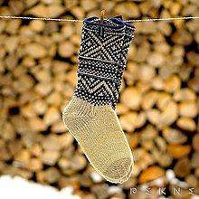 Obuv - Ponožky z ovčej vlny STRÁŽOV  (Natural - tmavomodrá (36-37, 38-39, 40-41)) - 9229861_