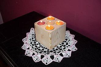 Svietidlá a sviečky - drevená romantika - 9231105_