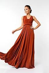 Šaty - Maxi šaty TRANSFORMERS, tehlové - 9231207_