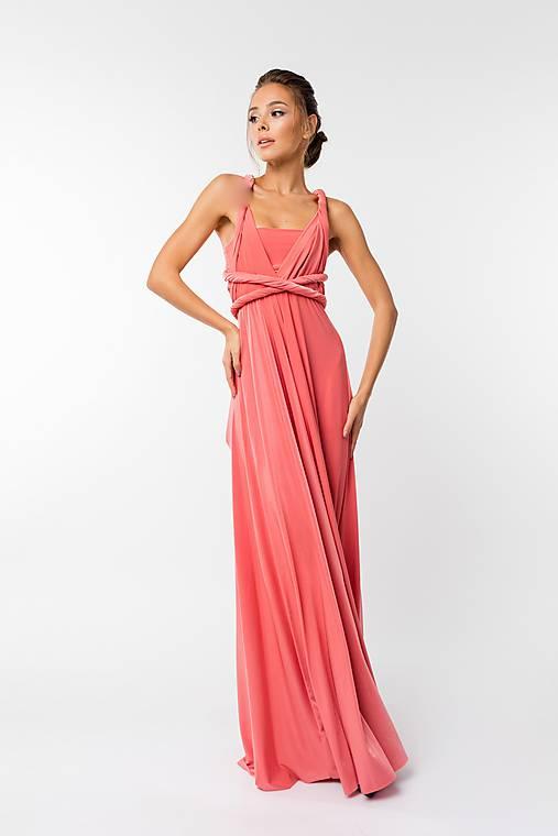 Šaty - Maxi šaty TRANSFORMERS, koralová (M) - 9231694_