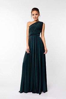 Šaty - Maxi šaty TRANSFORMERS, tmavo zelené - 9231372_