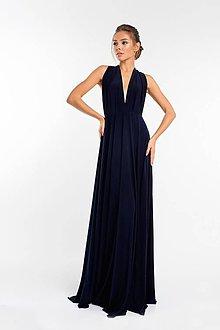 Šaty - Maxi šaty TRANSFORMERS, tmavo modré - 9231381_
