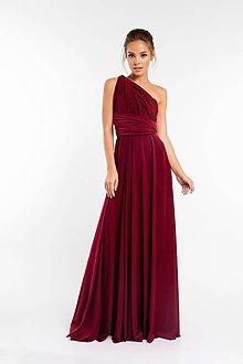 Šaty - Maxi šaty TRANSFORMERS, bordové - 9231418_