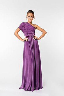 Šaty - Maxi šaty TRANSFORMERS, fialové - 9231537_