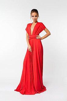 Šaty - Maxi šaty TRANSFORMERS, červené - 9231667_