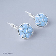 Náušnice - Náušničky BLUE OPAL Swarovski - 9229373_