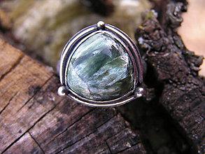 Prstene - Strieborny prsteň Ag 925 Serafinit - 9231066_