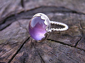 Prstene - Strieborny prsteň Ag 925 Ametyst - 9231156_