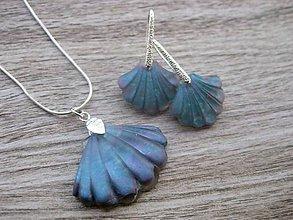 Sady šperkov - Mušle sada  (Modré mušle sada č.1829) - 9231901_