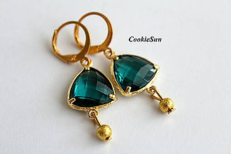 Náušnice - Emerald in Gold - 9233450_
