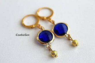 Náušnice - Parisian Blue in Gold - 9233453_